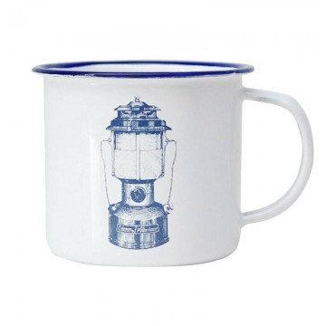 Coleman - White Enamel Mug