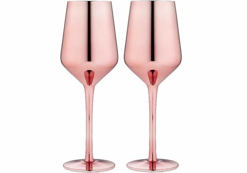 Ladelle 2pk  Aurora Wine Glass - rose