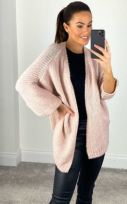 Suzy D Chunky Knit Pale Pink
