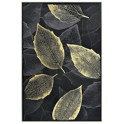 Framed Canvas - Leafy Shimmer
