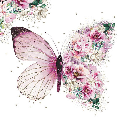 Lunch Napkins - Pink Butterfly or Lavender
