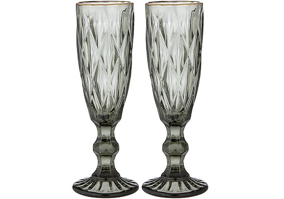 Ladelle 2pk Champagne Glass - green