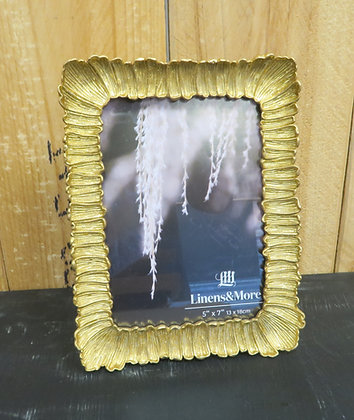 Linens+Moore - Petal Gold Photo Frame