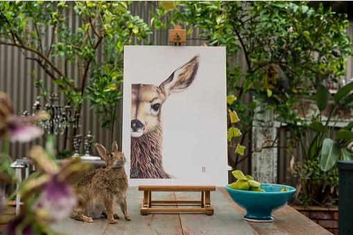 Wild Honey Art Print Willow
