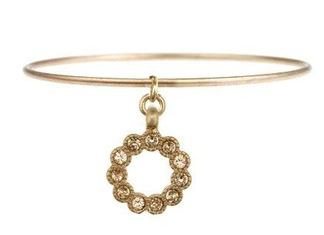 Four Corners Bangle with Pearl