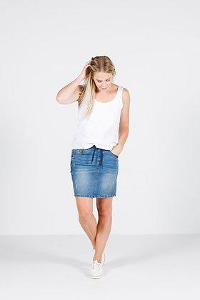 Homelee Denim Skirt Light Blue