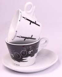 Giatto - Italia in Bici Cup and Saucer - set of 2
