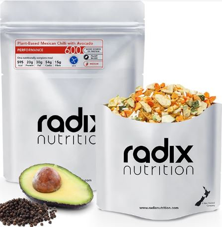 Radix 600 Plant-Based Mexican Chilli with Avocado Performance