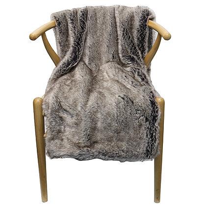 Faux Fur Throw Slate