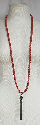 Im Gorgeous - Russet Necklace with Gunmetal Tassel