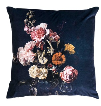 Plush Floral Cushion