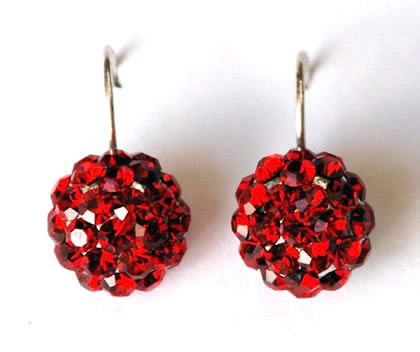 Im Gorgeous Earrings Crystal Drop Red