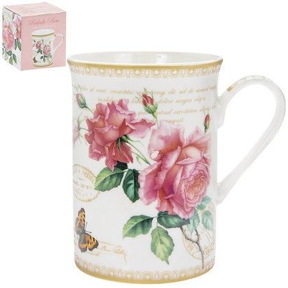 Redoute Rose with Butterfly Mug