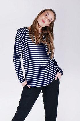 Ketz-ke Skinny Stripe Slouch Navy White Stripe