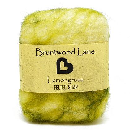 Bruntwood Lane Lemongrass Felted Wool Soap