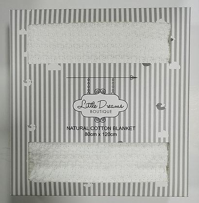 Little Dreams Cotton Blanket White