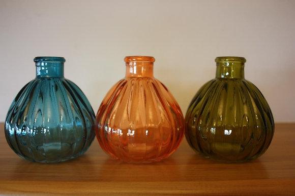 Coloured Glass Vase - 8.5x10cm