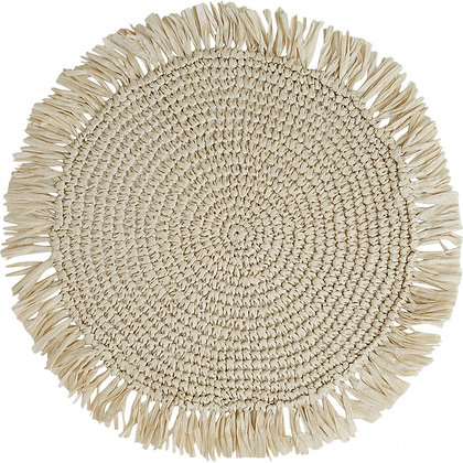 Placemat Woven Fringe