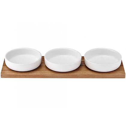 Ladelle Host Bowl and Wooden Tray