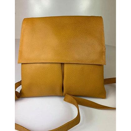 Baron - Leather Handbag - mustard