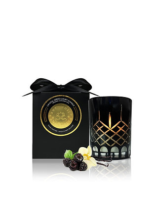 Surmanti  Crystal Candle Black Raspberry and Vanilla