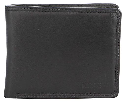Milleni - Leather Mens Tab Wallet - Black