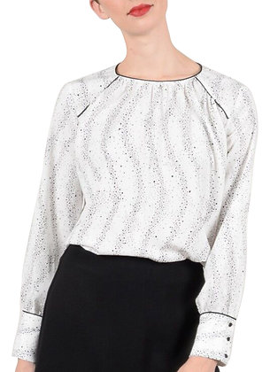 Molly Bracken Woven Off White Blouse
