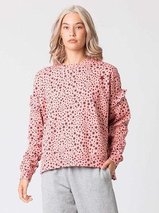 Stella+Gemma Lexi Ruffle Sweater Maroon