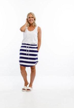 Home-lee Mini Skirt Blue/White