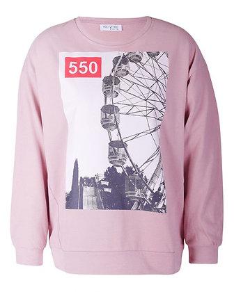 Ketz-ke Ferris Wheel Sweat Dusky Pink