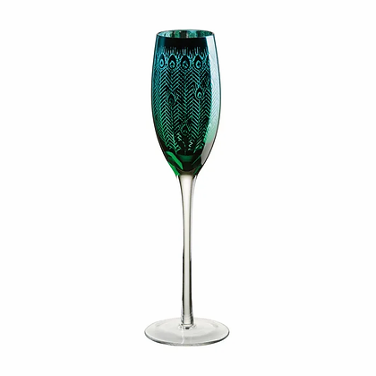 Artland Peacock Champagne Flutes Set of 2