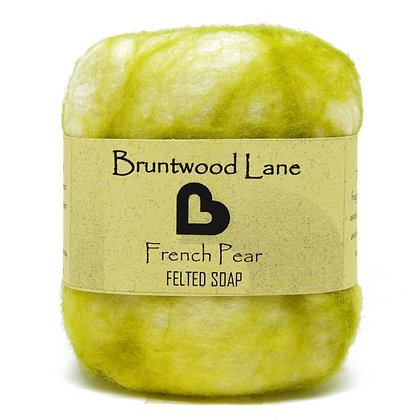 Bruntwood  Lane  French Pear Felted Wool Soap