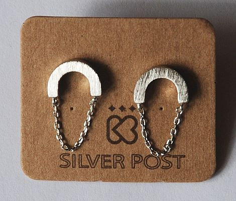 Must Have Earrings - Circular Swing Silver