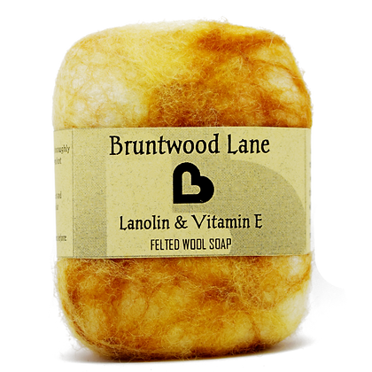 Bruntwood  Lane Lanolin & Vitamin E Felted Wool Soap