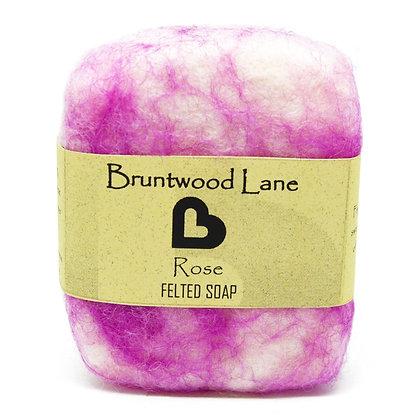 Bruntwood  Lane Rose Felted Wool Soap