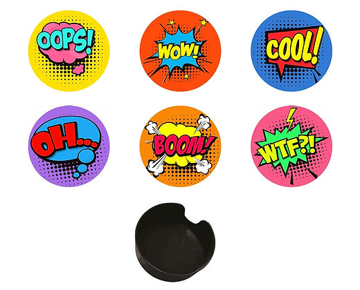 Comic Coasters Glass