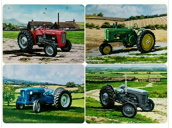 Leonardo Collection - Tractor Placemats - Set of 4