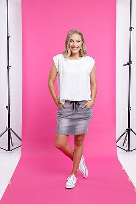 Home-lee Denim Skirt Grey