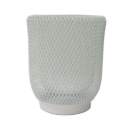 Mesh Lantern 17cm White