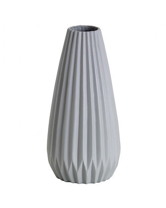 Jason - White Fluted Vase
