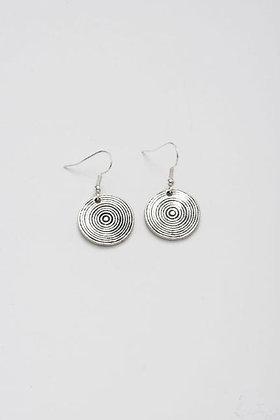 Stilen - Disc silver earrings