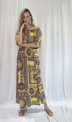 Jaclyn M Lotus Midi Dress