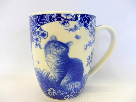 Abbeydale Collection - Blue Calico Cat Mug