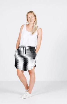 Home-lee Mini Skirt Black/White Stripe