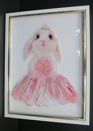 Framed Pink Rabbit