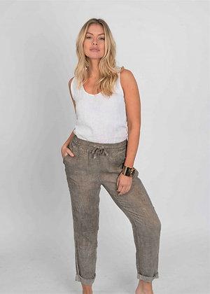 Suzy D Linen Drawstring Pants