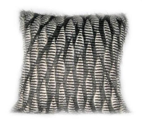 Feather Cushion Grey/Black