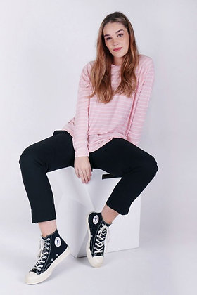 Ketz-ke Skinny Stripe Slouch Pink
