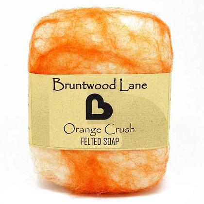 Bruntwood Lane Orange Crush Felted Soap