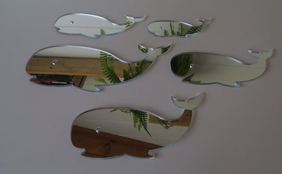 Crystal Ashley - Set of Whales Mirror